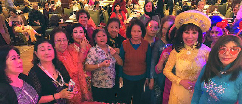 group of happy elderly people